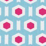 Blue Geometric Fabric | Geometric Print Fabric - Print #1715