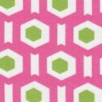 Pink Geometric Fabric | Geometric Print Fabric - Print #1717