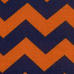 Orange and Blue Chevron Fabric | Orange and Blue Fabric - Print #1305