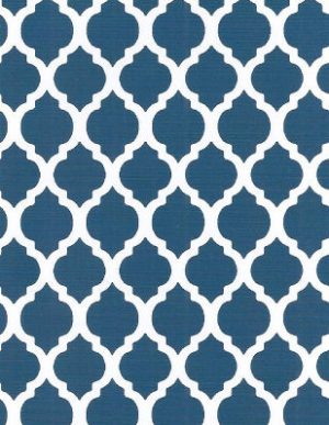 Navy Quatrefoil Fabric | Quatrefoil Fabric | Wholesale Fabric - Print #1731