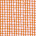 Orange Seersucker Fabric | Seersucker Check Fabric - Orange