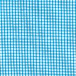 Turquoise Seersucker Fabric - Check | 100% Cotton Seersucker