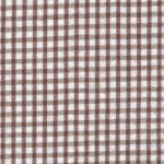 Brown Seersucker Fabric | Seersucker Check Fabric - Choc. Brown