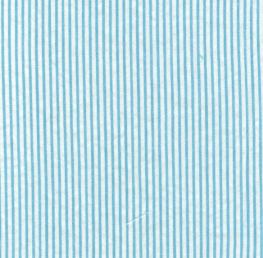 "Turquoise Seersucker Fabric: 1/16"" Stripe 