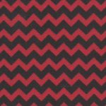 Red and Black Chevron Fabric | Black Chevron Fabric - Print #1461