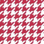 Red Houndstooth Fabric:Large | Wholesale Houndstooth Fabric