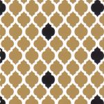 Bronze and Black Quatrefoil Fabric | Quatrefoil Fabric - Print #1740