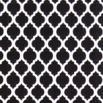 Black and White Quatrefoil Fabric |Quatrefoil Fabric Wholesale