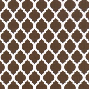 Brown Quatrefoil Fabric | Quatrefoil Fabric | Wholesale Fabric - Print #1742