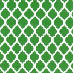 Green Quatrefoil Fabric | Quatrefoil Fabric | Wholesale Fabric - Print #1743