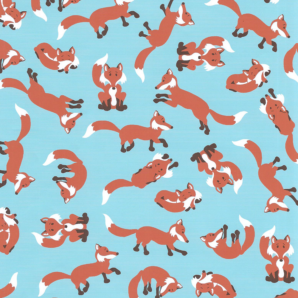 wholesale cotton fabric fox print fabric print 1748