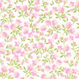Pink and Green Floral Fabric - 100% Cotton | Floral Fabric Wholesale