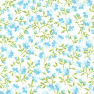 Turquoise Floral Fabric | Wholesale Floral Fabric - Print #1777