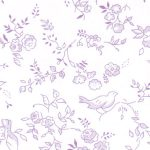 Purple Floral Fabric | Wholesale Floral Fabric - Print #1778