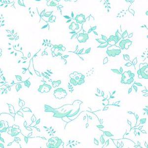 Aqua Floral Fabric   Wholesale Floral Fabric - Print #1779
