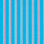 Coral and Turquoise Stripe Fabric | Coral and Turquoise Fabric - Print #1783