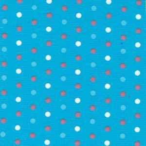 Multi Color Polka Dot Fabric - Turquoise Dot | Cotton Dot Fabric - Print #1785