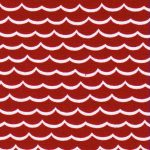 Wave Print Fabric | Nautical Theme Fabric - Red - Print 1786