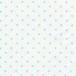 Small Blue Dots on White - Pique #109   Cotton Pique Fabric Wholesale