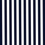 "Navy Stripe Fabric: 1/4"" Width 