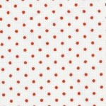 Red Dots on White: 100% Cotton | Cotton Pique Fabric Wholesale