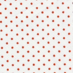 Red Dots on White: 100% Cotton | Cotton Pique Fabric Wholesale