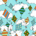 Kite Print Fabric | Wholesale Cotton Fabric - 1818