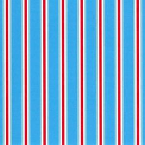 Tomato and Turquoise Stripe Fabric | Stripe Fabric Wholesale - Print #1823