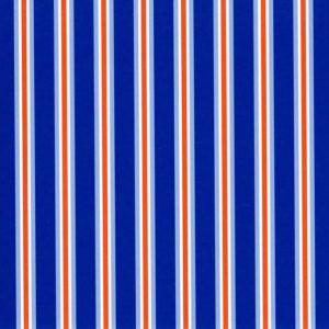 Royal and Orange Stripe Fabric | Stripe Fabric Wholesale - Print #1826