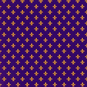Purple and Gold Fleur De Lis Fabric | Fleur De Lis Pattern Fabric
