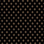 Black and Gold Fleur De Lis Fabric | Fleur De Lis Pattern Fabric
