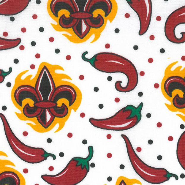 Chili Pepper Fabric Red Black Quatrefoil Fabric Finder S