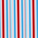 Turquoise, Red and Aqua Stripe Fabric | Wholesale Stripe Fabric - Print #1855