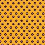 Purple Paw Print Fabric | Paw Print Fabric - Print #1867