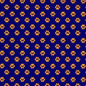 Purple Paw Print Fabric | Paw Print Fabric - Print #1868