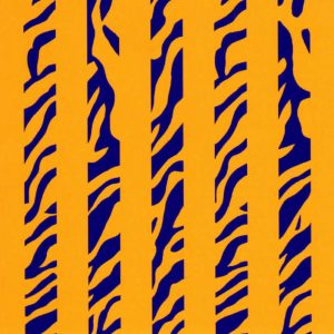 Animal Print Fabric | Stripe Fabric | Purple and Gold Fabric - Print #1869