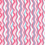 """Wave Fabric: Coral and Turquoise 