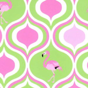 Pink Flamingo Fabric: Lime and Hot Pink | Flamingo Cotton Fabric