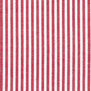 "Berry Red Stripe Fabric: 1/16"" Striped 