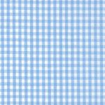 "Blue Gingham Fabric: 1/16"" Check 