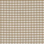 "British Tan Gingham Fabric - 1/16"" Gingham 
