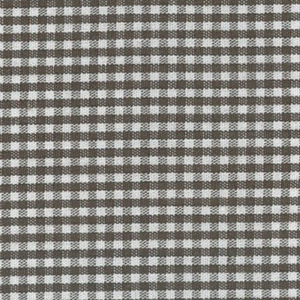"Chocolate Brown Gingham Fabric: 1/16"" Check 