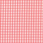 """Coral Gingham Fabric - 1/16"""" Check 