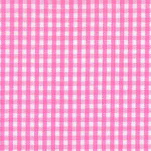 Hot Pink Gingham Fabric - 1/16"