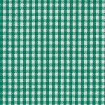 Kelly Green Gingham Fabric: 1/16"