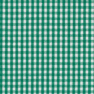 """Kelly Green Gingham Fabric: 1/16"""" 