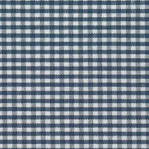 Navy Gingham Fabric - 1/16"
