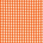 Orange Gingham Fabric: 1/16"