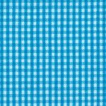 Turquoise Gingham Fabric - 1/16"