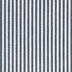 "Navy Stripe Fabric - 1/16"" Stripes | Striped Cotton Fabric"